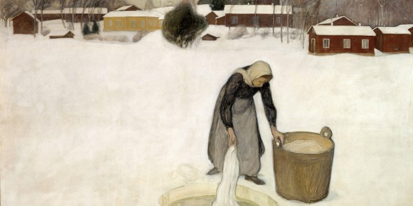 Pekka_Halonen_-_Washing_on_the_Ice_-_Google_Art_Project